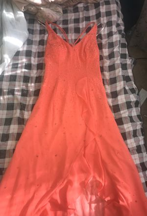 Orange gown/ prom dress for Sale in Durham, NC