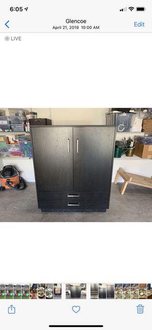 Custom made dark wood dresser chest armoire for Sale in Glencoe, IL