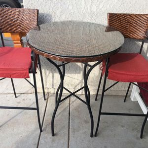 Iron & Wicker Pub Table Only $100 for Sale in Fresno, CA
