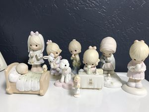Precious Moments Porcelain dolls. 1977-90. Buy all for a Better deal at $5 each. (Sheep is Sold) for Sale in Upland, CA