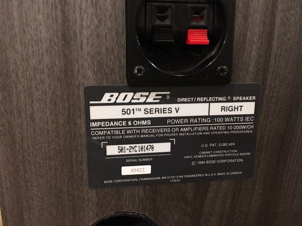 PENDING: Bose 501 Series-5 Direct/Reflective Stereo Speakers - Excellent Condition!!