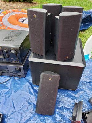 Home theaters stereo system Boston 5 speaker 1 sub for Sale in Herndon, VA