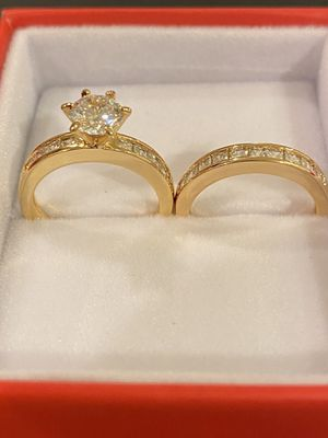 18K Gold Yellow plated Ring Set- Highly Delicate Jewelry Desings for Sale in Denver, CO