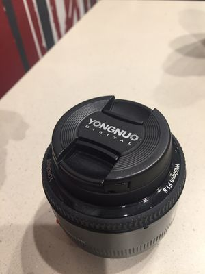 Yongnuo Canon mount 50mm 1.8 lens for Sale in Brooklyn, NY