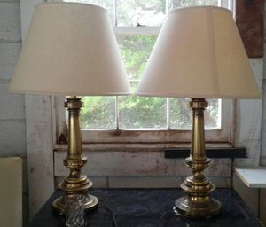 Pair of brass #Stiffel brand vintage lamps for Sale in Olney, MD