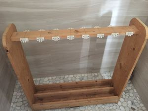 Wooden Fishing Rod Holder up to 18 Fishing Rods for Sale in Miami, FL