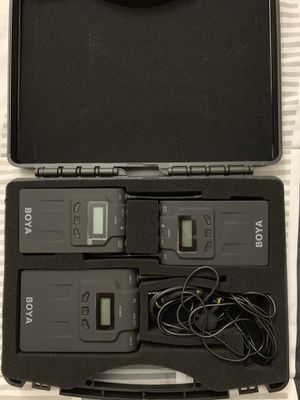 BOYA BY-WM8 Pro-K2 UHF Dual-Channel Wireless Microphone System with One Receiver and Two Transmitter for Sale in North Miami Beach, FL
