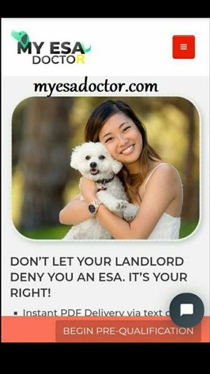 💯Emotional Support &Qualifying for an ESA letter cAlifornia for Sale in Orange, CA