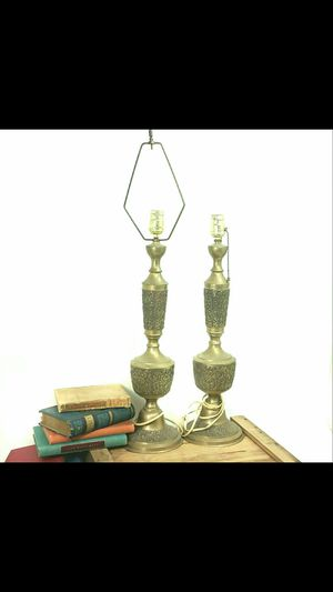 Antique Set Tall Brass Lamps for Sale in Denver, CO