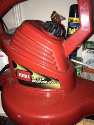 Toro Ultra 12 Amp Electric Leaf Blower/Vacuum/Mulcher for Sale in New Port Richey, FL