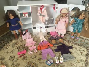 American Girl Dolls with clothes and accessories for Sale in Chatham Township, NJ
