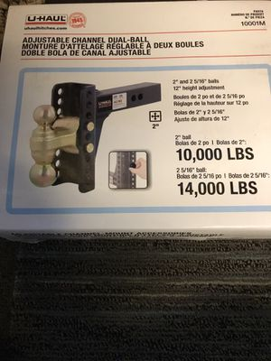 U haul adjustable dual ball hitch for Sale in Kent, WA