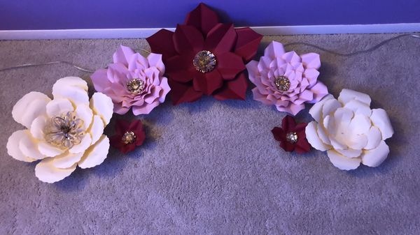 Paperflowers /flores de papel decor set
