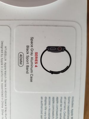 Apple Watch Series 4 40mm Space Grey Cellular for Sale in Rockville, MD