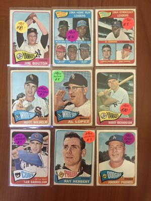 1965 TOPPS BASEBALL CARDS * HALL OF FAMERS & HOME RUN LEADERS * for Sale in Lafayette, CA