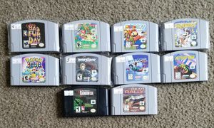 Nintendo 64 Games SEE DESCRIPTION FOR PRICES for Sale in Leander, TX