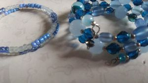One size fits all two new bracelets in blues gifts for Sale in San Leon, TX