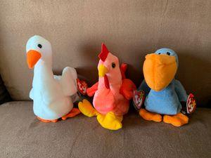 RARE BEANIE BABY (trio) for Sale in Alexandria, VA