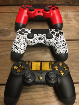 Three Custom Wireless Controllers for Sony PlayStation 4 (PS4), Android, iOS, PS3, and PC for Sale in Moreno Valley, CA