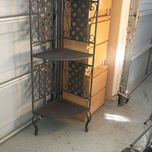 Shelf Metal Corner Rack for Sale in Rancho Cucamonga, CA
