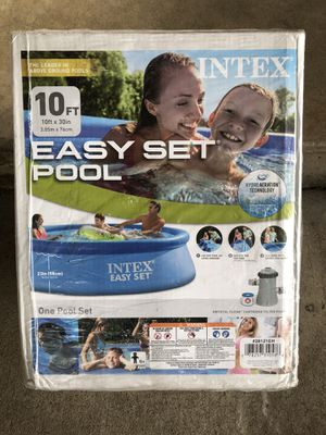 Intex 10ft x 30in Easy Set Pool with Pump & Filter for Sale in Garland, TX