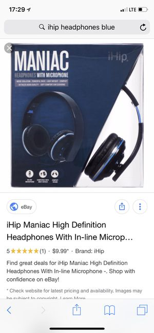 Used iHip adjustable wired Headphones for Sale in Houston, TX