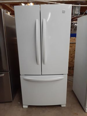 33 inch White French door refrigerator free delivery free delivery free delivery to your garage or porch for Sale in Phoenix, AZ