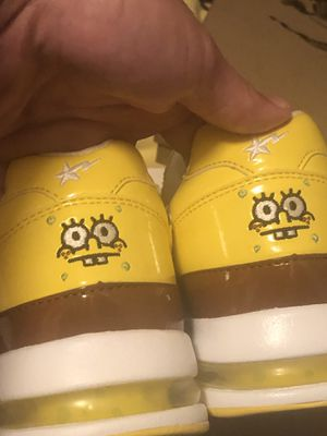Rare bape spongebob roadstas size 10 DS for Sale in Canton, GA