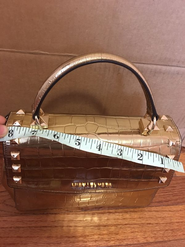 NWT! MICHAEL KORS KARLA MD LEATHER SATCHEL CROSSBODY BAG EMERALD
