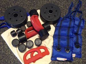 Weights, 1 Lb to 5 Lb, includes 5 Lb ankle weights and Heavyhand set for Sale in Cape Coral, FL