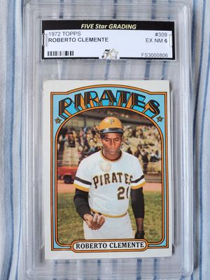Roberto Clemente 1972 Topps # 309 EX NM 6 for Sale in Alhambra, CA