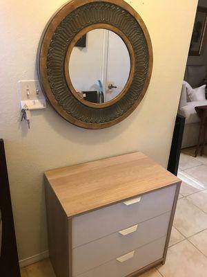Ikea askvoll dresser & mirroe for Sale in Phoenix, AZ
