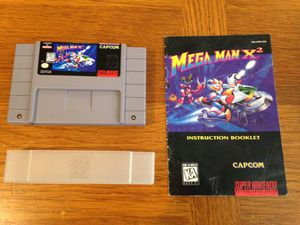 Megaman X2, SNES, with manual for Sale in Everett, WA