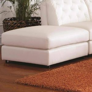Coaster Quinn ottoman off-white leather for Sale in Jersey City, NJ