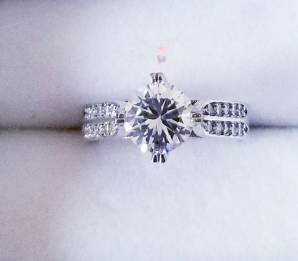 ❤2.5cts Round Cut S925 Sterling Silver Lab Diamond Engagement Ring Size 5,7,8,9