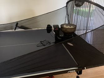 Suz Table Tennis Robot Ping Pong Ball Machine S102 Wireless Remote Control Automatic Table Tennis Machine for Training for Sale in Tracy,  CA