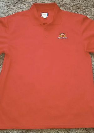 Wells Fargo Bank M Men Clique Solid Red Collared Polo Shirt for Sale in San Antonio, TX