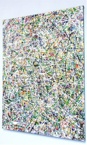 18x24 JACKSON POLLOCK STYLE PAINTING DRIP ART STRETCHED CANVAS AND READY TO HANG! for Sale in Cincinnati, OH