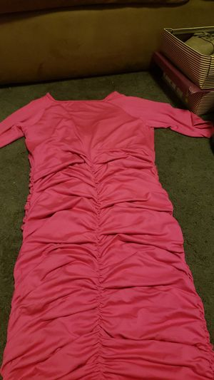 One size fits all. Stretchy hot pink dress for Sale in Stockton, CA