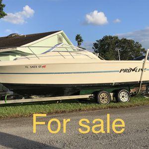 Boat Pro Line 1996 20.1 Ft Con Un Mercury Optima 200 Del 2002 for Sale in Homestead, FL