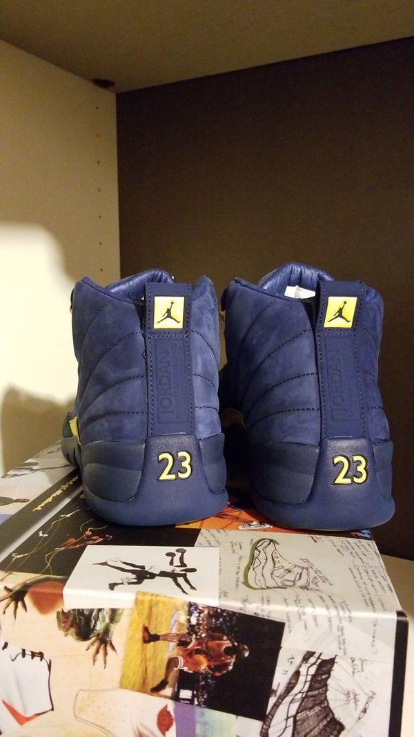 Jordan 12 michigans size 8.5 or 11