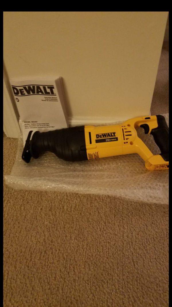 NEW Dewalt 20v MAX reciprocating saw sawz all