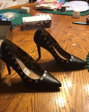 SZ 5 Black 3 1/2 In Christian Siriano Designer Classic Stiletto Heels - NIB for Sale in Rossville, GA