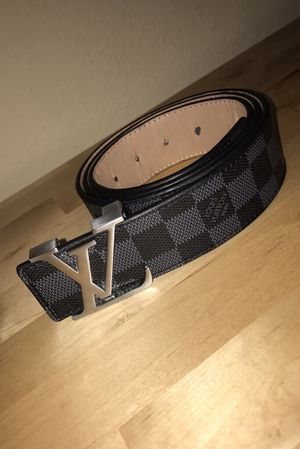 Louis Vuitton Black Belt Silver Buckle for Sale in Tomball, TX