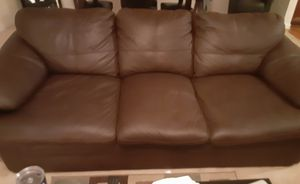Brown leather sofa $250 for Sale in College Park, GA