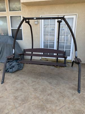 Sunset Wooden Porch Swing with a mental frame for Sale in Corona, CA