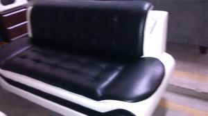 Black & white,red leather sofa set for Sale in US