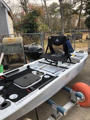 Ascend 12.8T - sit on top fishing kayak + YAK power & trolling motor mount. for Sale in Virginia Beach, VA