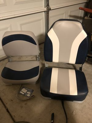 Boat seats, boat seat parts and square tubing dolled for boat for Sale in Sanger, CA