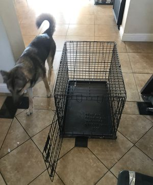 Medium dog kennel cage wire crate for Sale in Valley Springs, CA